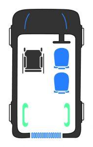 sirus VW Caddy wheelchair upfront passenger